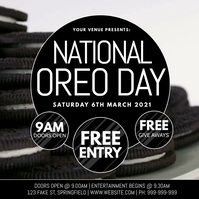 National Oreo Day Video Poster template