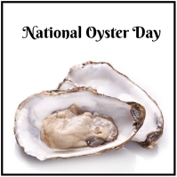 national oyster day โพสต์บน Instagram template