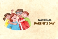 NATIONAL PARENT'S DAY Banner 4' × 6' template