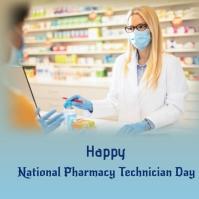 national pharmacy technician day Publicación de Instagram template