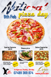 National Pizza Day Poster