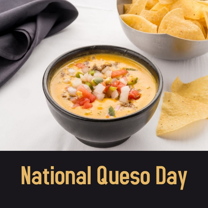 national queso day Instagram-opslag template