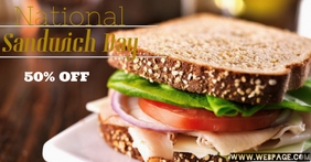 National Sandwich Day Facebook Event Cover template