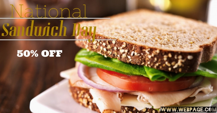 National Sandwich Day Facebook-gebeurtenisomslag template