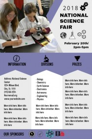 840 Customizable Design Templates For Science Fair Flyer Postermywall