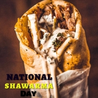 National Shawarma Day Post Instagram template
