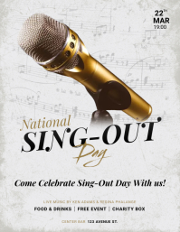 National Sing-Out Day flyer Pamflet (Letter AS) template
