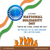 National Solidarity Day Pos Instagram template