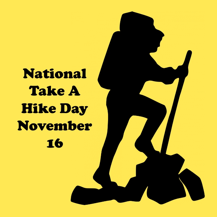 National Take a Hike Day Instagram Post template