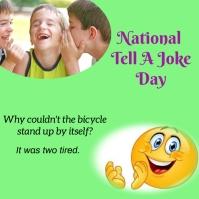 national tell a joke day Instagram 帖子 template
