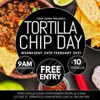 National Tortilla Chip Day Poster template