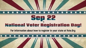 National Voter Registration Day September 22 Digital Display (16:9) template