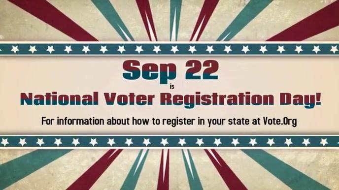 National Voter Registration Day September 22