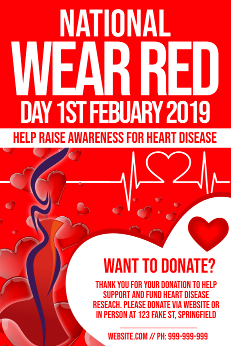 National Wear Red Day Poster