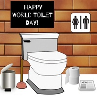 National world toilet day Instagram Post template