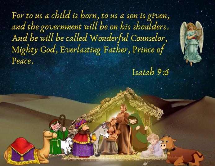 Nativity, Christmas Folder (US Letter) template