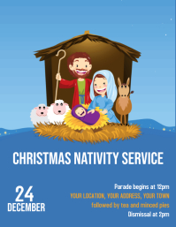 Nativity children's performance Flyer (US Letter) template
