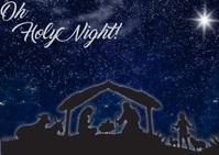 Nativity Scene sky Postcard template