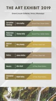 Natural Art Exhibition Directory Digital Signage