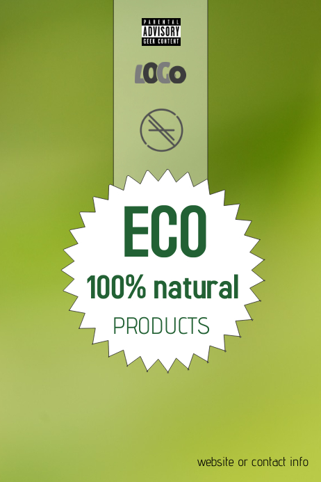 natural eco products poster