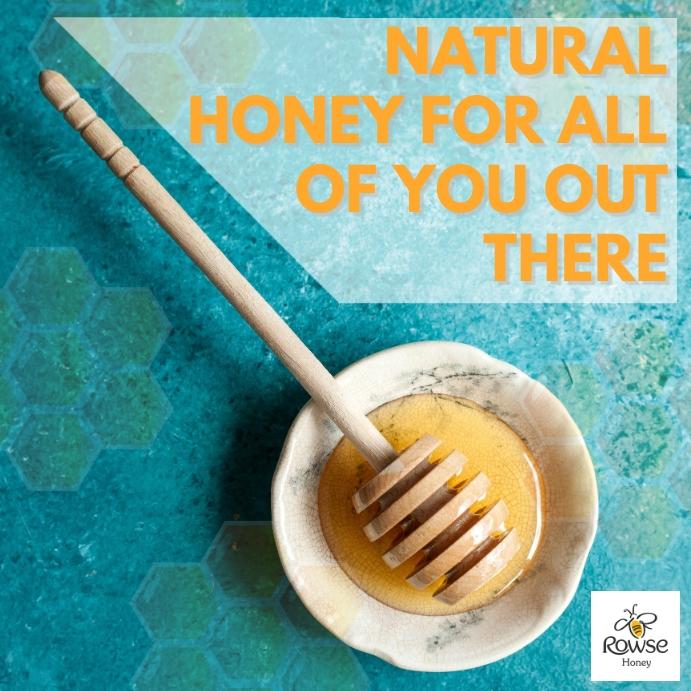 Natural honey instagram post template