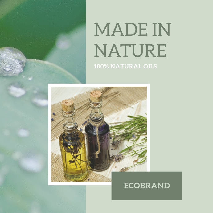 Natural product advertising template