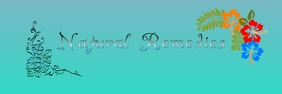 Natural Remedies Banner 2' × 6' template