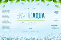 Natural Water Bottle Label 标签 template