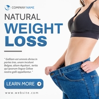 Natural weight loss instagram post advertisin template