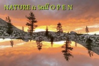 Nature is Still Open Text Slideshow Affiche template