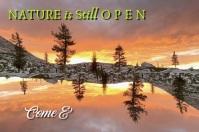 Nature is Still Open Text Slideshow Affiche template