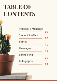 Nature Mag Table of Contents