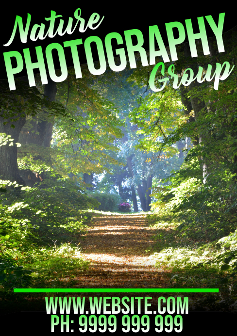 Nature Photography A5 template
