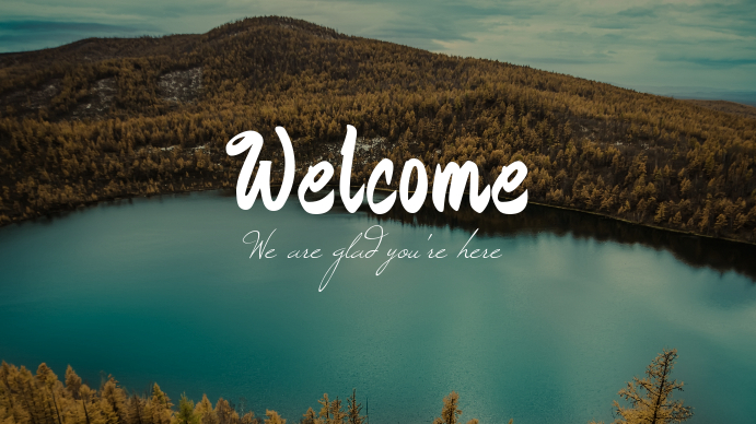 Nature Welcome Church Template Affichage numérique (16:9)