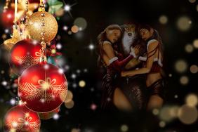 Naughty Christmas Background