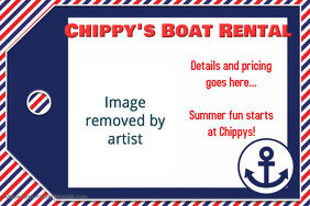 Nautical Boat Rental Summer Marina Flyer Poster Invitation