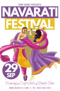 Navarati Festival Poster