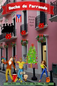 navidad/parranda/Puerto Rico/christmas Poster template