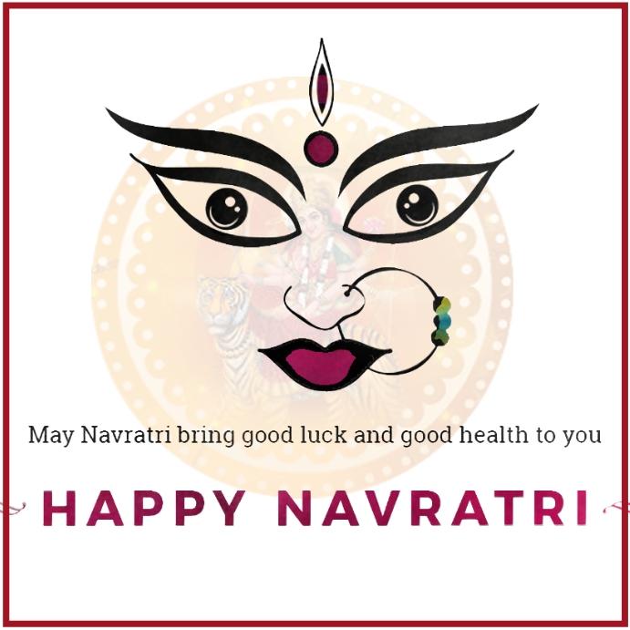 Navratri Banner Message Instagram template