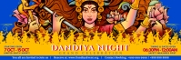 Navratri Dandiya Night Banner Template