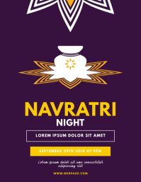 Navratri Flyer Design Template