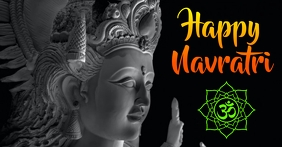Navratri greeting Facebook Shared Image template
