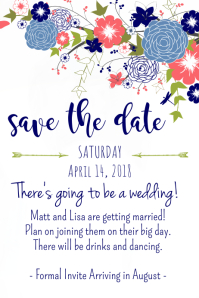 Navy Bloom Save the Date