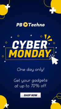 Navy blue cyber monday instagram story Indaba yaku-Instagram template
