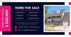 Navy Blue Real Estate Facebook Post template