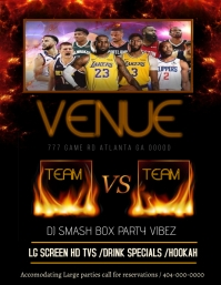 NBA BASKETBALL VENUE FLYER ใบปลิว (US Letter) template