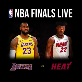 NBA finals โพสต์บน Instagram template