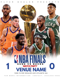 NBA FINALS 传单(美国信函) template
