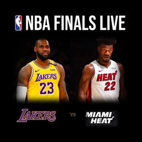 NBA finals Publicação no Instagram template
