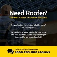 Need roofing service instagram template